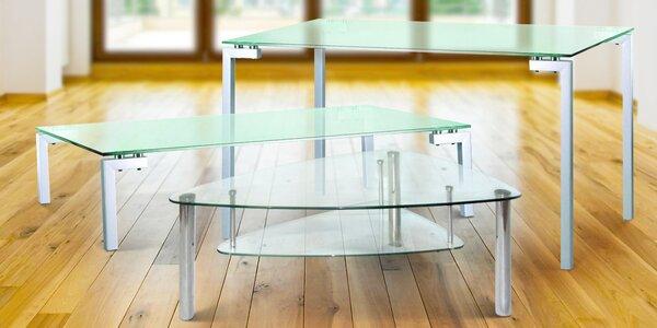 Konferenční a jídelní stoly se skleněnou deskou