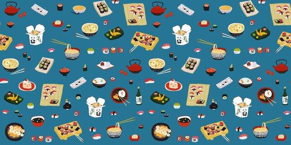Sushi a asijské jídlo