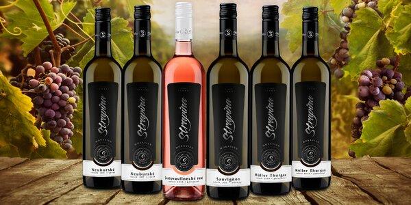6 moravských vín z rodinného vinařství Strapina
