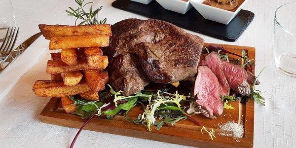 Luxusní 5chodové menu: bouillabaisse, rump steak