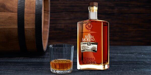 Špičkový karibský rum Sierra Morena Añejo 5 Años