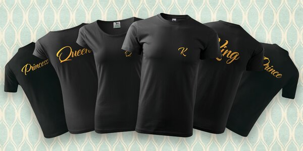 Královská trička s potiskem pro celou rodinu