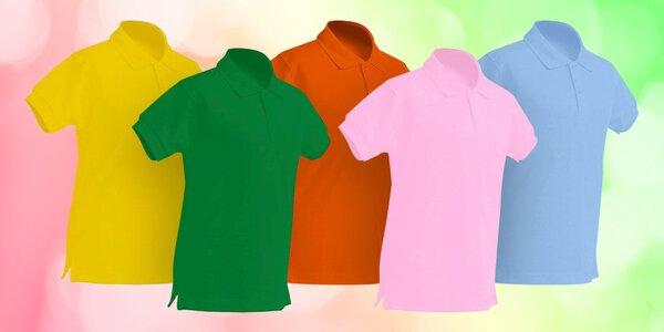 Dětské bavlněné polokošile v 5 barvách