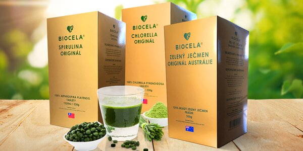 Chlorella, Zelený ječmen i Spirulina BIOCELA®