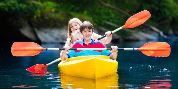 Půjčení kánoí či raftů pro 2 až 6 vodáků na víkend