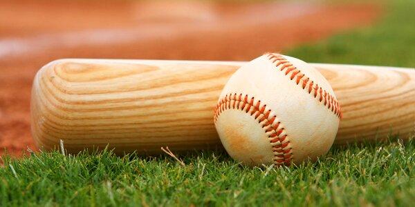 Baseballová pálka dřevěná a míček pro začátečníky