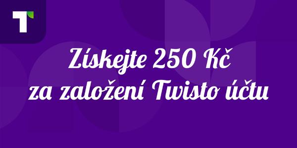 Twisto: Pro nové uživatele kredity 250 Kč