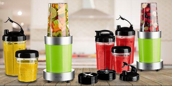 Výkonný smoothie maker ECG 900W se 4 lahvemi