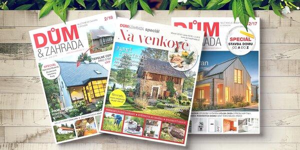 Předplatné časopisu Dům a Zahrada