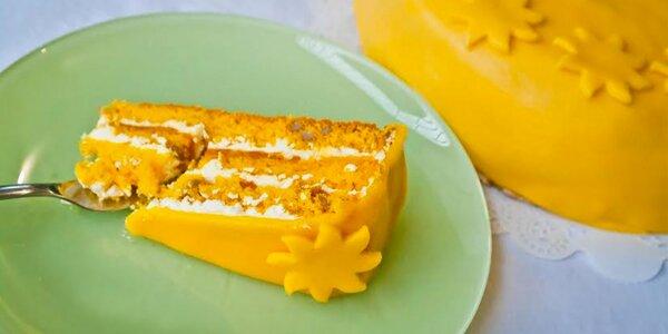 Zářivý dort Sluníčko s medem a marcipánem