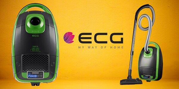 Sáčkový vysavač ECG o výkonu 1000 W
