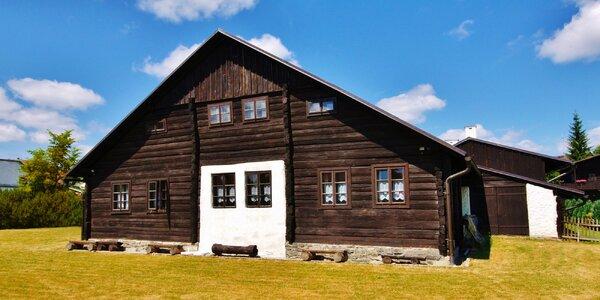 Zima a jaro na Šumavě: horská chalupa s polopenzí