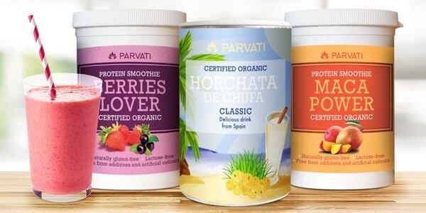 Balíček letních bio drinků: horchata a smoothie
