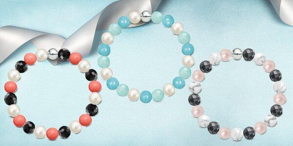 Náramky z kamenů a s perlami Swarovski