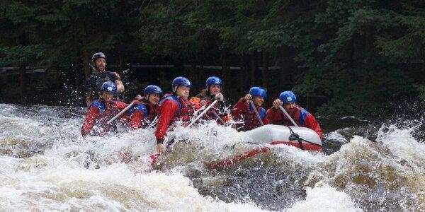Rafting na Vltavě při vypouštění přehrady Lipno