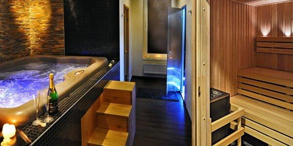 Soukromé spa Klasik pro 2: sauna, vířivka a sekt