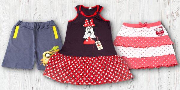 Dětské licenční kraťasy, sukně a šaty