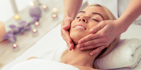 Masáž obličeje s aplikací kyseliny hyaluronové