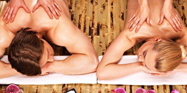 Celotělová olejová masáž, relaxace a čaj pro 2