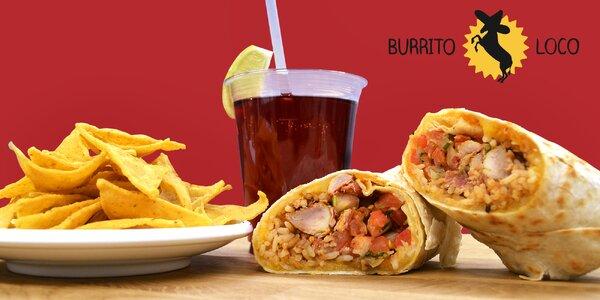 Mexické menu s kuřecím quesaritem z Burrito Loco