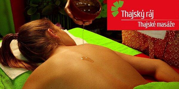 60minutová smyslná thajská nebo olejová masáž a rybky Garra Rufa k tomu