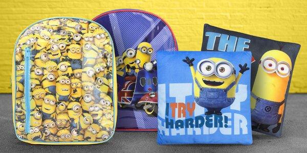 Dětské batohy a polštářky s oblíbenými Mimoni