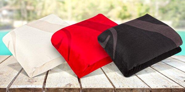 Velká fleecová deka na piknik nebo pláž 19V69