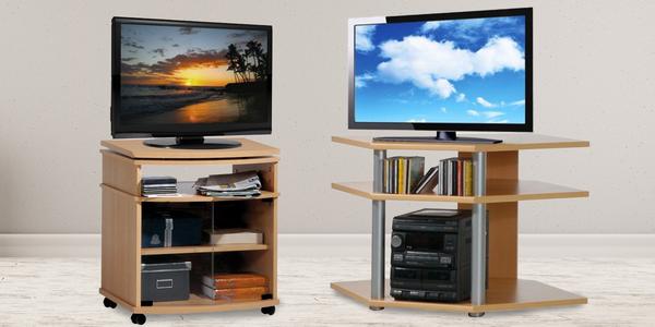 Praktické i elegantní televizní stolky