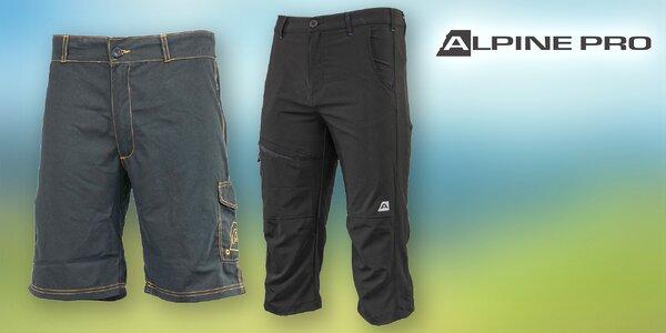 Pohodlné pánské 3/4 kalhoty a kraťasy Alpine Pro