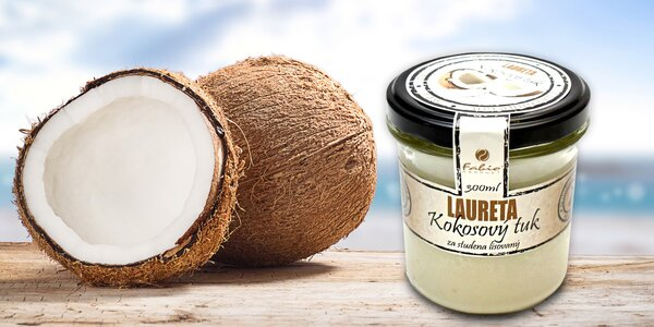 100% kokosový tuk Laureta lisovaný za studena