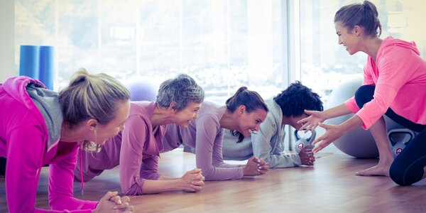 5 skupinových lekcí v dámském fitness