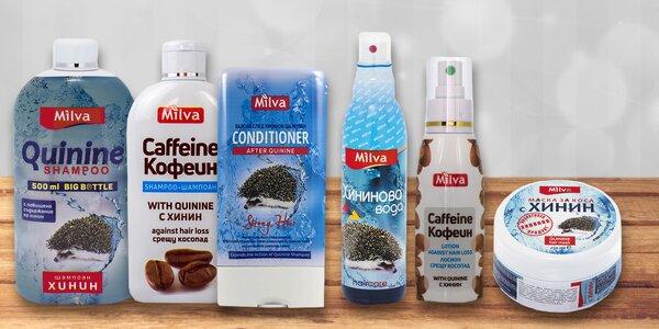 Balíčky vlasové kosmetiky Milva s chininem