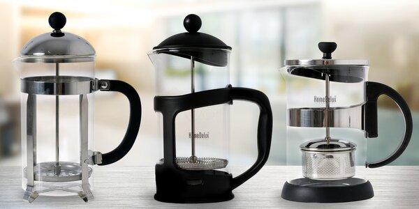 French press pro snadnou přípravu silné kávy