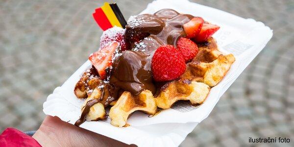 Pravé belgické waffle a teplý nápoj dle výběru