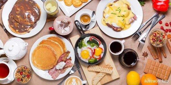 Vydatná snídaně all you can eat i s nápoji