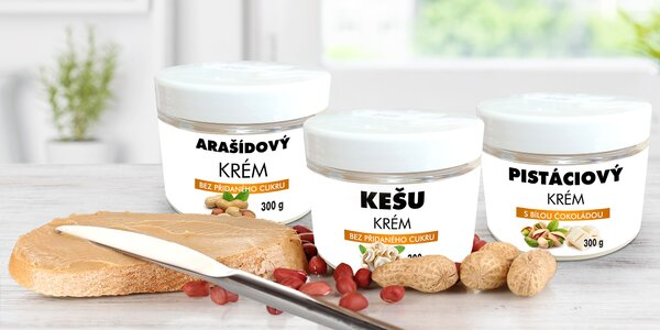 Ořechové krémy bez konzervantů - česká výroba