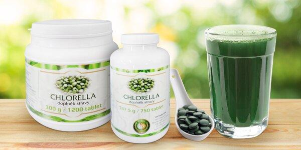 Chlorella: balení 750 nebo 1200 tablet