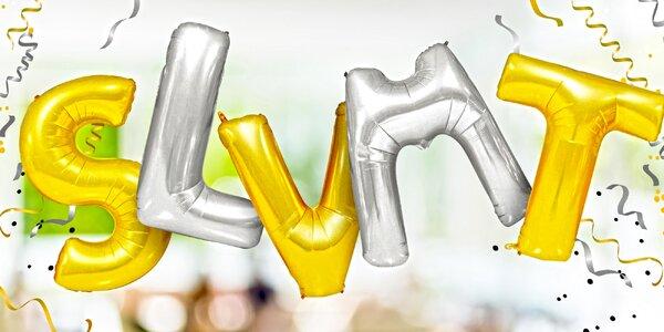 Nafukovací balónky ve tvaru písmen: 2 velikosti