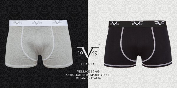 Balení 2 pohodlných boxerek 19V69 Italia