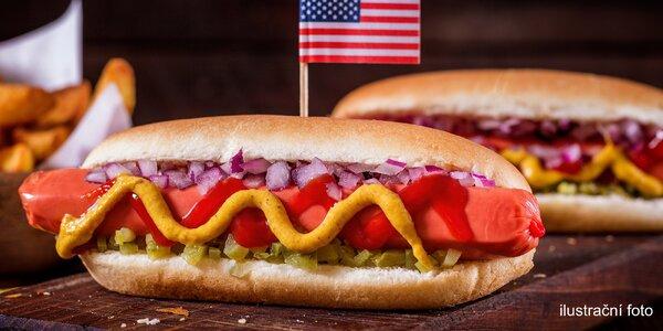 Americký Hot Dog sestavený podle vašich přání