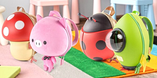 Dětské batohy ruční výroby s roztomilými motivy
