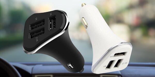 Autonabíječka pro nabíjení až 3 USB zařízení