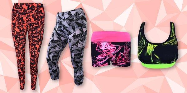 Dámské fitness legíny, šortky i podprsenky