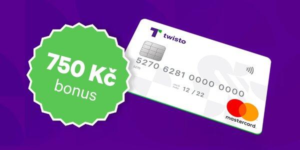 Získejte Twisto kartu a 750 Kč na nákupy