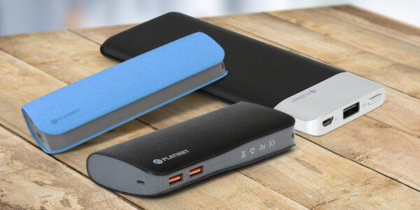 Energie na cesty: powerbanky od 2600 do 15 000 mAh