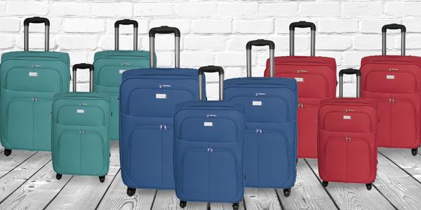 Na víkend i na měsíc: Sada tří textilních kufrů