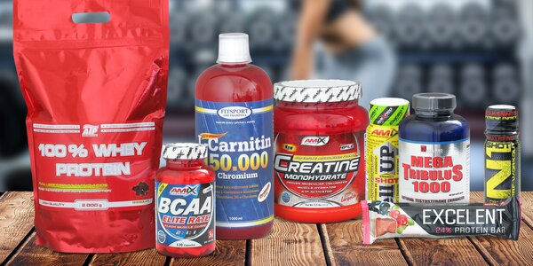 Fitness doplňky: BCAA i Whey Protein a dárek