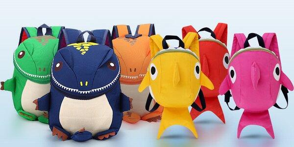 Dětský batůžek dinosaurus či žralok: 3D efekt