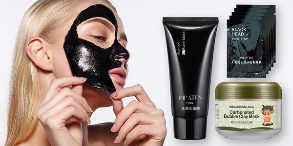 Pleťová maska Pilaten nebo bublinková maska