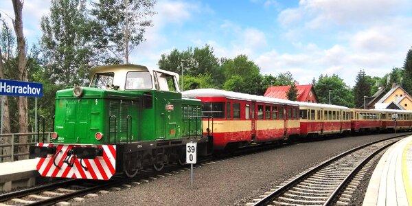 Jízdné na historický motorový vlak v Českém ráji